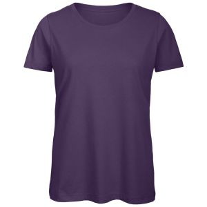 B & C Inspire Ladies' Organic Promotional T-Shirts in Urban Purple