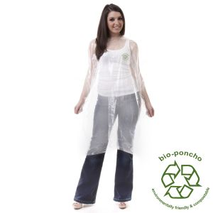 Corn Starch Biodegradable Rain Printed Poncho