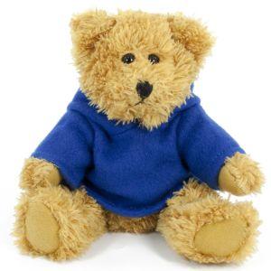 20cm Sparkie Bear with Royal Blue Hoody
