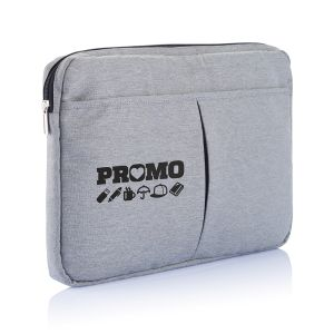 """Polyester 15""""Laptop Sleeve In Grey"""
