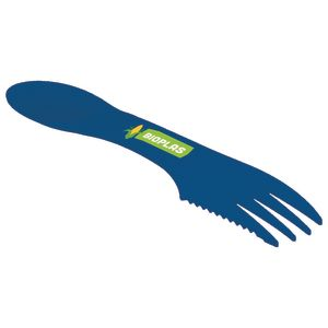 Branded sporks made from biodegradable plastic