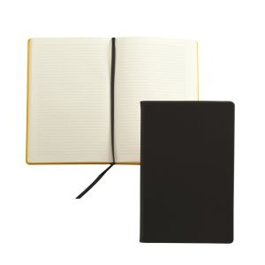 Debossed Recycled Leather A5 Notebook with your Company Logo