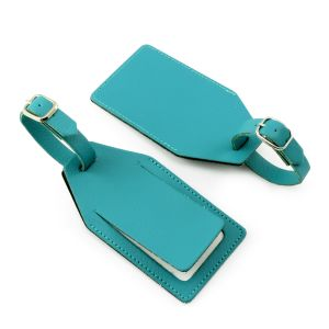 Custom Branded Recycled Leather Luggage Tags