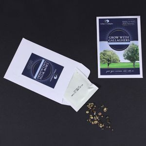 Custom branded seed packets with your logo