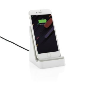 Branded phone stand with wireless charger