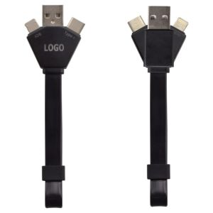 Branded LED Y-cable with logo