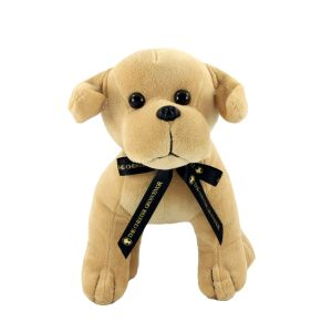 Branded dog soft toys with printed bow