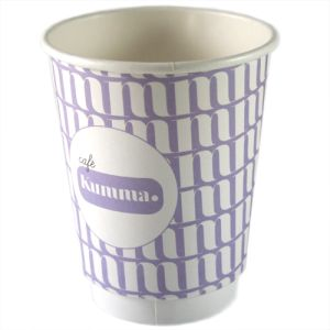Custom branded paper cups with company logos