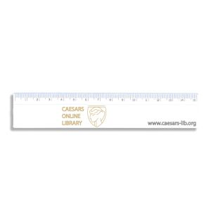 Branded 15cm ruler made in the UK