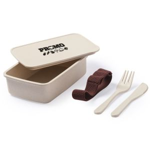 Corporate Branded Eco PP Bamboo Lunch Boxes