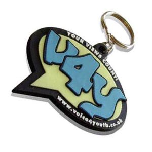 Corporate Branded 2D PVC Keyrings made to your bespoke shape