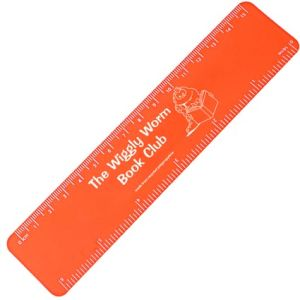 15cm Recycled Flexi Rulers in Orange