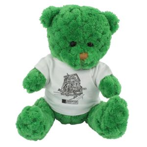 15cm Waffle Bears with T Shirts in Kelly Green
