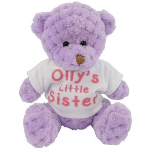 15cm Waffle Bears with T Shirts in Orchid