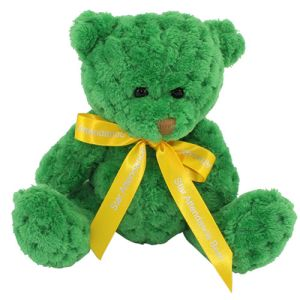 15cm Waffle Bears with Bows in Kelly Green