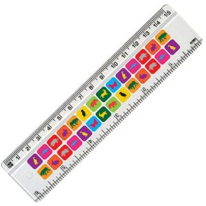 Promotional Plastic 15cm Ruler for school merchandise
