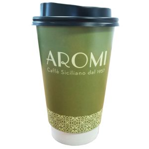 16oz Double Wall Paper Cups with Lids