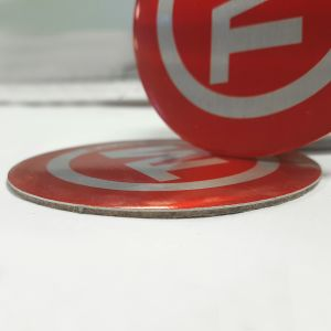 Promotional Metal Coasters with Cork Backing Printed with Your Logo