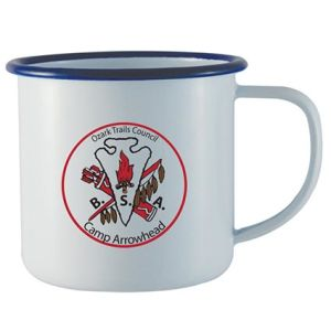 Printed Camping Mugs are great for many Company Promotions