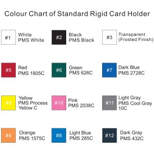 Branded Rigid Plastic ID Card Holders for Corporate Events