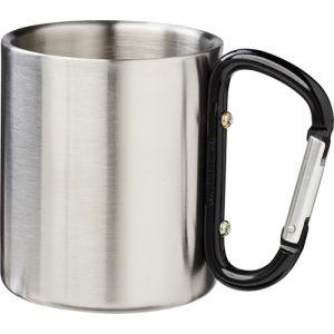 Insulated Carabiner Mug in Silver/Black