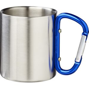 Insulated Carabiner Mug in Silver/Blue