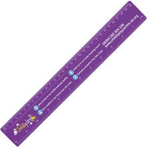 Plastic 30cm Ruler in Purple