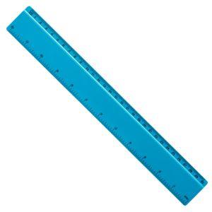 Plastic 30cm Ruler in Aqua