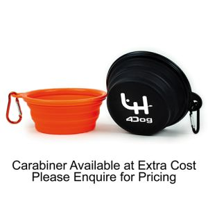 For extra ease of use, a carabiner is also available to complete these promotional dog bowls.