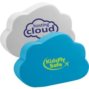 Printed Cloud Shaped Stress Balls for Company Advertising