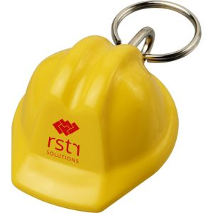 Hard Hat Keyrings in Yellow
