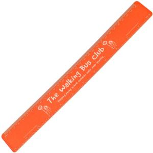 30cm Recycled Flexi Rulers in Orange