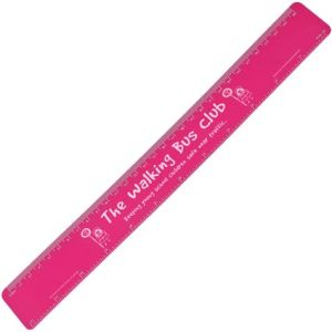 30cm Recycled Flexi Rulers in Pink