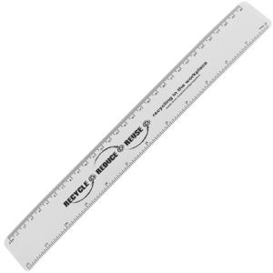 30cm Recycled Flexi Rulers in White