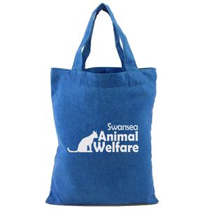 Small Tote Cotton Bags in Blue