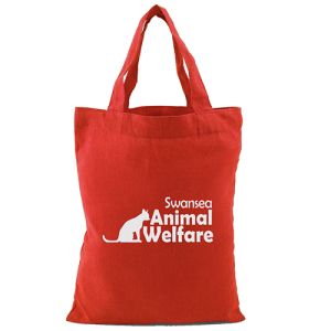 Small Tote Cotton Bags in Red