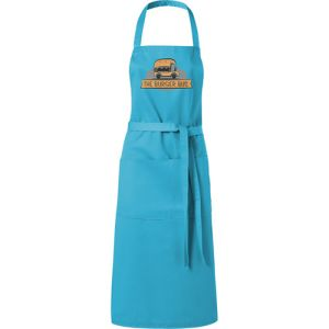 Full Length Apron in Aqua