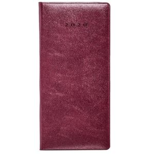Colombia Pocket Weekly Diary in Burgundy