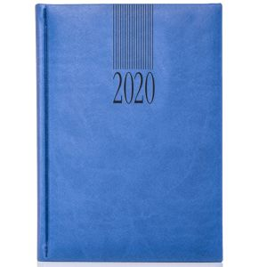 Embossed journals for workplace stationery in Sky Blue