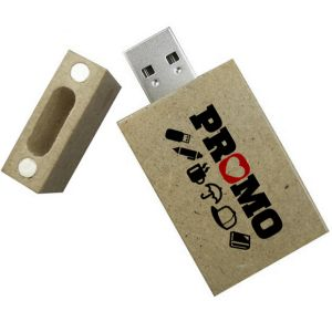 Recycled Newspaper USB Flashdrive