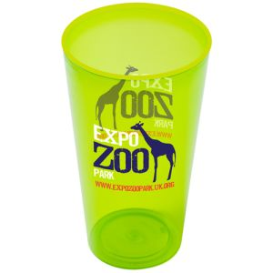 These Arena plastic cups are ideal for covering with your vibrant branding!