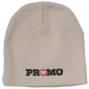 Embroidered beanies for marketing giveaways