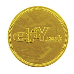 38mm Embossed Chocolate Coins