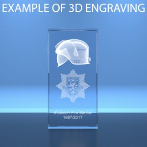 3D Engraved Crystal Rectangles