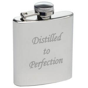 Promotional 3oz Stainless Steel Mini Hip Flasks  engraved with logo