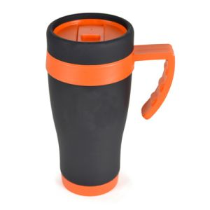 450ml Oregan Matt Black Travel Mugs