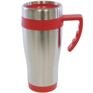 Corporate printed metal travel mugs for commuting