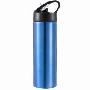 Straw Metal Sports Bottles