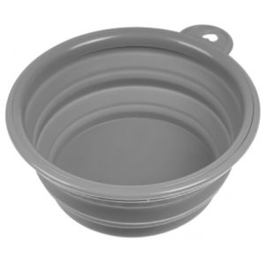 Collapsible Dog Bowls in Grey