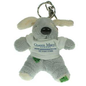 Keychain Dog in Grey